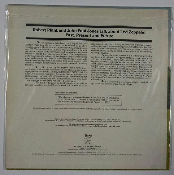 Unreleased Led Zeppelin Past, Present And Future Promotional